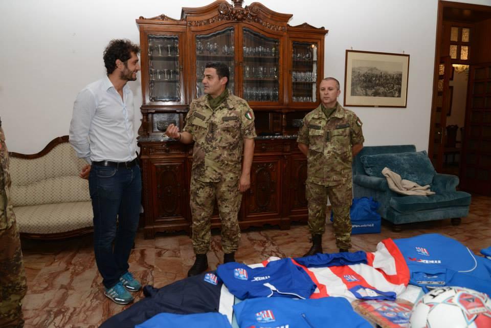 L'Olympic Salerno a sostegno della missione del Reggiomento Cavalleggeri Guide (19°) per la missione in Libano